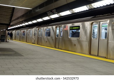 NEW YORK - DECEMBER 4, 2016:34 Street -Hudson Yards Subway station in NY. The new final destination of line 7 subway is the first new subway station built by the MTA.