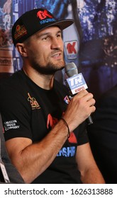 NEW YORK - DECEMBER 8, 2018: Sergey Kovalev of Russia during press conference for rematch fight against light heavyweight world champion boxer Eleider Alvarez of Columbia in Madison Square Garden
