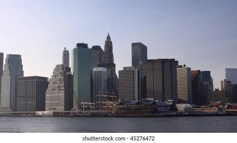 New York downtown skyline