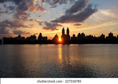 New York dusk cityscape
