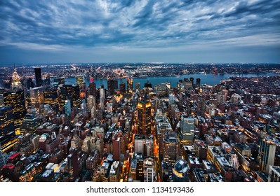 New York  in the evening hours