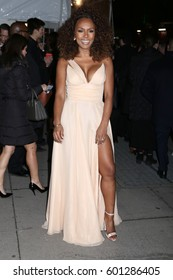 NEW YORK - FEB 8, 2017 - Janet Mock attends the amfAR Gala at Cipriani Wall Street on February 8, 2017, in New York.