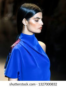 New York, New York - February 08, 2019: Bhumika Arora walks the runway at Cushnie Fall Winter 2019 Fashion Show