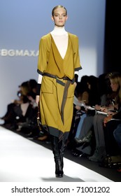 NEW YORK - FEBRUARY 10: Model Nimue Smit walks the runway at the BCBG Max Azria Fall 2011 Collection presentation during Mercedes-Benz Fashion Week on February 10, 2011 in New York.