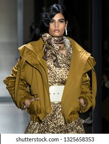 New York, New York - February 11, 2019: Bhumika Arora walks the runway at Zimmermann Fall Winter 2019 Fashion Show