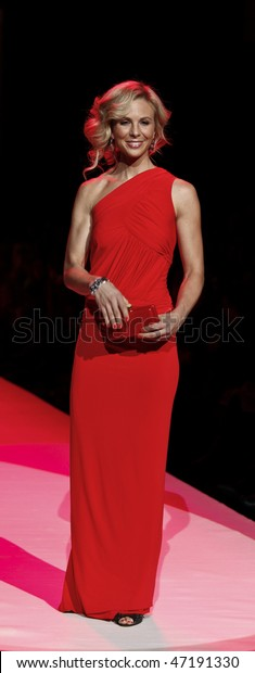 NEW YORK - FEBRUARY 11: Elisabeth Hasselbeck walks the runway for Donna Karan at the Heart Truth's Red Dress Collection for Fall 2010 during Mercedes-Benz Fashion Week on February 11, 2010 in New York