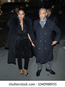 "NEW YORK - February 13, 2018: Al Sharpton attends a screening of ""Black Panther"" at the Museum of Modern Art on February 13, 2018, in New York City."