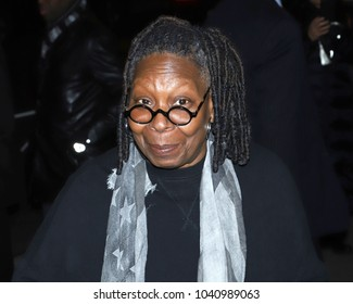 "NEW YORK - February 13, 2018: Whoopi Goldberg attends a screening of ""Black Panther"" at the Museum of Modern Art on February 13, 2018, in New York City."