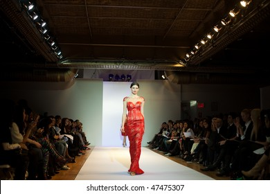 NEW YORK - FEBRUARY 17: Model at the Karen Sabag runway Fashion Week Autumn 2010 February 17, 2010 in New York, USA.