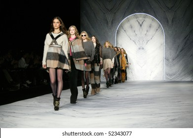 NEW YORK - FEBRUARY 17: Models are walking the runway at the PHILLIP LIM Collection for Fall/Winter 2010 during Mercedes-Benz Fashion Week on February 17, 2010 in New York.