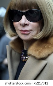 NEW YORK - FEBRUARY 17: Vogue editor in chief Anna Wintour arrives at the  Calvin Klein Fall 2011 Collection presentation during Mercedes-Benz Fashion Week on February 17, 2011 in New York.