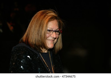 NEW YORK - FEBRUARY 18: Fern Mallis of IMG on the runway at the Tommy Hilfiger Collection for Fall/Winter 2010 during Fashion Week on February 18, 2010 in New York