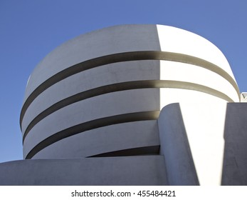 NEW YORK - FEBRUARY 2: The famous Solomon R. Guggenheim Museum of modern and contemporary art. On February 2, 2016 in New York City, USA