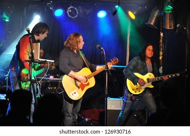 NEW YORK- FEBRUARY 27: Music group Mobius performs on stage during Russian Rock Festival at Webster Hall on February 27, 2013 in NYC