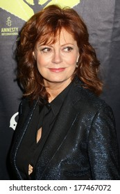 NEW YORK - February 5, 2014: Susan Sarandon attends the Bringing Human Rights Home concert on February 5, 2014 in Brooklyn, New York.