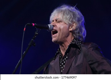 NEW YORK - February 5, 2014: Sir Bob Geldof performs during the Bringing Human Rights Home concert on February 5, 2014 in Brooklyn, New York.