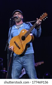 NEW YORK - February 5, 2014: John McCrea of Cake performs during the Bringing Human Rights Home concert on February 5, 2014 in Brooklyn, New York.