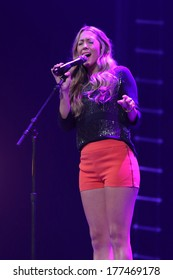 NEW YORK - February 5, 2014: Colbie Caillat performs during the Bringing Human Rights Home concert on February 5, 2014 in Brooklyn, New York.
