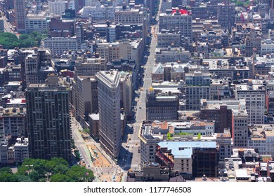 New York Flatiron district - United States aerial view.