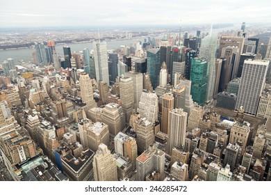 New York, high view