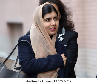 NEW YORK - JAN 7, 2019: Malala Yousafzai is seen on January 7, 2019, in New York City.