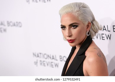 NEW YORK - JAN 8, 2019:  Lady Gaga attends the National Board of Review Awards at Cipriani on January 8, 2019, in New York.