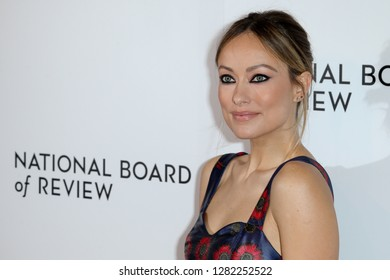 NEW YORK - JAN 8: Olivia Wilde attends the 2018 National Board of Review gala at Cipriani's 42nd Street on January 8, 2019 in New York City.