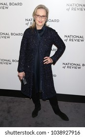 NEW YORK - JAN 9, 2018: Meryl Streep attends the National Board of Review Awards at Cipriani on January 9, 2018, in New York
