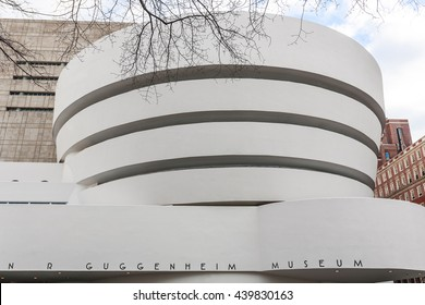 NEW YORK - JANUARY 11,2009 : The Solomon R. Guggenheim Museum of modern and contemporary art. Designed by Frank Lloyd Wright on January 11, 2009 in New York City, USA