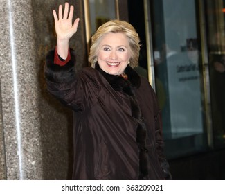 NEW YORK - January 14, 2016: Hillary Rodham Clinton sighting on January 14, 2016 in New York City.