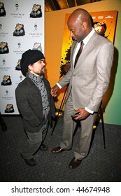 """NEW YORK - JANUARY 16 : Peter Dinklage (L) and Romany Malco attend the """"Saint John Of Las Vegas"""" New York Premiere on January 16th, 2010 in NYC"""