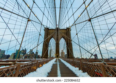 NEW YORK - January 28,2014: Brooklyn Bridge.