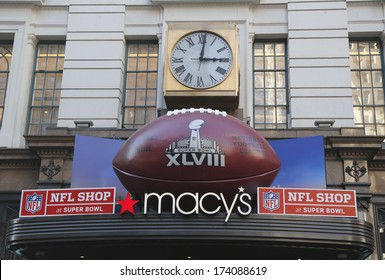 NEW YORK - JANUARY 30  Giant Football at Macy s Herald Square on Broadway  during Super 5c8d9d8de