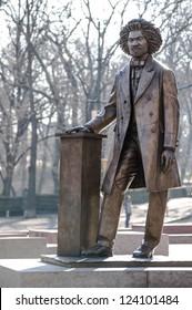 NEW YORK - JANUARY 6, 2013: Frederick Douglass statue on January 6, 2013 in Harlem, New York. Frederick Douglass was an African-American social reformer, orator, writer and statesman.