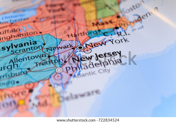 New York New Jersey On Map Stock Photo (Edit Now) 722834524