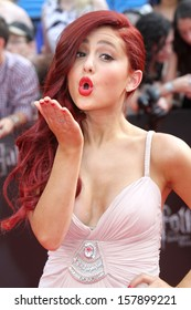 """NEW YORK - Jul 11: Ariana Grande attends the premiere of """"Harry Potter And The Deathly Hallows: Part 2"""" at Avery Fisher Hall on July 11, 2011 in New York City."""