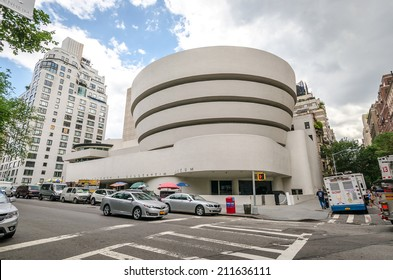 NEW YORK - JUL 17: The famous Solomon R. Guggenheim Museum of modern and contemporary art, on July 17, 2014 in New York City, USA