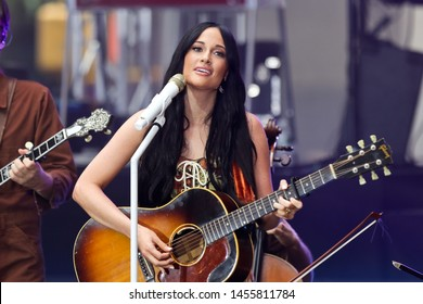 NEW YORK - JUL 19: Kacey Musgraves performs in concert on NBC's 'TODAY' show on July 19, 2019 at Rockefeller Plaza in New York City.