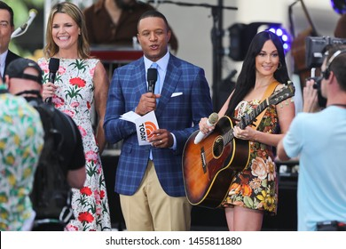 NEW YORK - JUL 19: (L-R) Savannah Guthrie, Craig Melvin and Kacey Musgraves on NBC's 'TODAY' show on July 19, 2019 at Rockefeller Plaza in New York City.