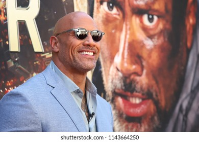 "NEW YORK - July 10, 2018: Dwayne ""The Rock"" Johnson attends the premiere of ""Skyscraper"" at AMC Loews Lincoln Square on July 10, 2018, in New York City."