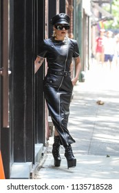NEW YORK - JULY 11: Lady Gaga is seen on July 11, 2018 in New York City.