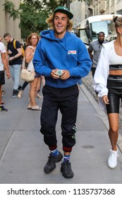 NEW YORK - JULY 12: Justin Bieber is seen on July 12, 2018 in New York City.