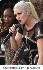 """NEW YORK - JULY 15, 2016:  Gwen Stefani performs on the NBC """"Today"""" show concert series on July 15, 2016, in New York City."""