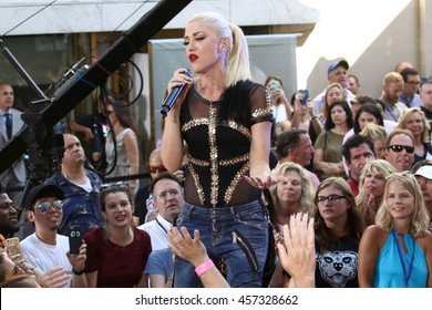"NEW YORK - JULY 15, 2016:  Gwen Stefani performs on the NBC ""Today"" show concert series on July 15, 2016, in New York City."