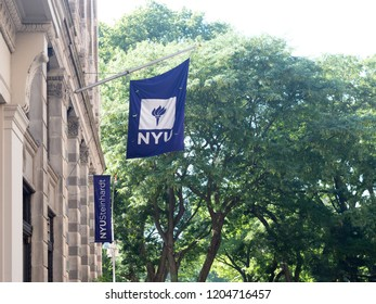 NEW YORK - JULY 15,2018: An NYU building in New York, NY. New York University is a private nonprofit research University located in New York City.