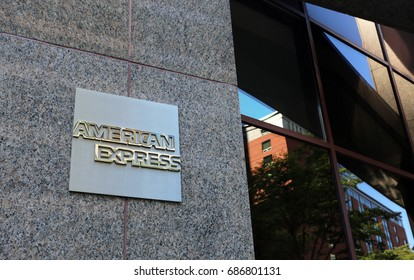 NEW YORK - JULY 16: The American Express Company headquarters in New York, NY on July 16, 2017. The American Express Company is an American multinational financial services corporation.