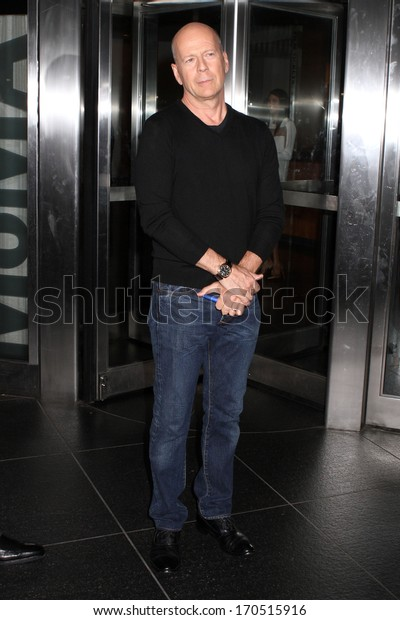 """NEW YORK - JULY 16: Bruce Willis attends a screening of """"Red 2"""" at the Museum of Modern Art on July 16, 2013 in New York City."""