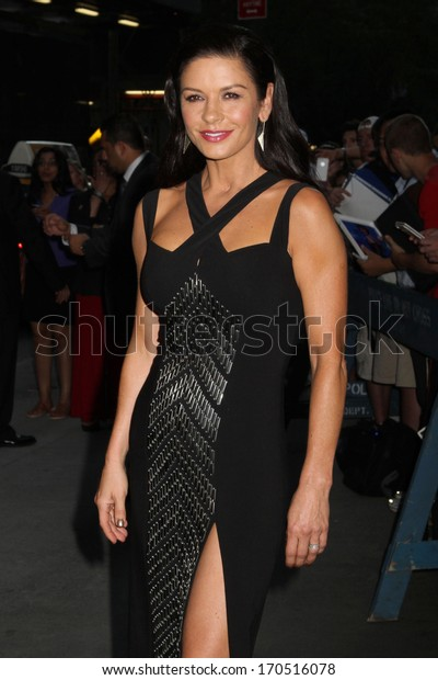 "NEW YORK - JULY 16: Catherine Zeta Jones attends a screening of ""Red 2"" at the Museum of Modern Art on July 16, 2013 in New York City."