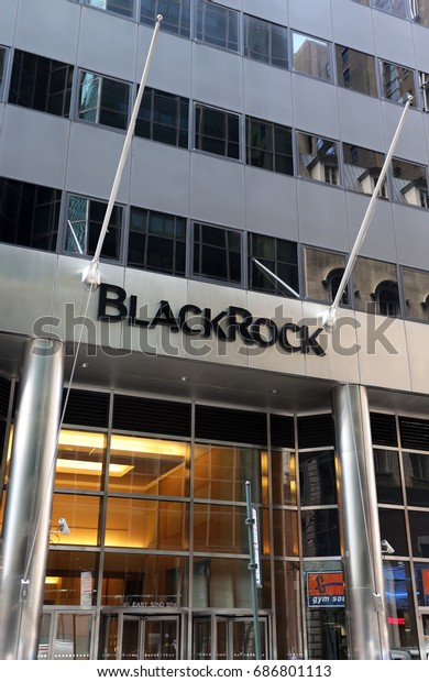 NEW YORK - JULY 16: The headquarters of Blackrock, Inc in New York, NY on July 16, 2017. BlackRock, Inc. is an American global investment management corporation.