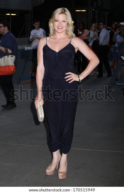 """NEW YORK - JULY 16: Megan Hilty attends a screening of """"Red 2"""" at the Museum of Modern Art on July 16, 2013 in New York City."""